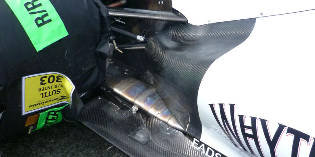 Force India Auspuff GP England 2011