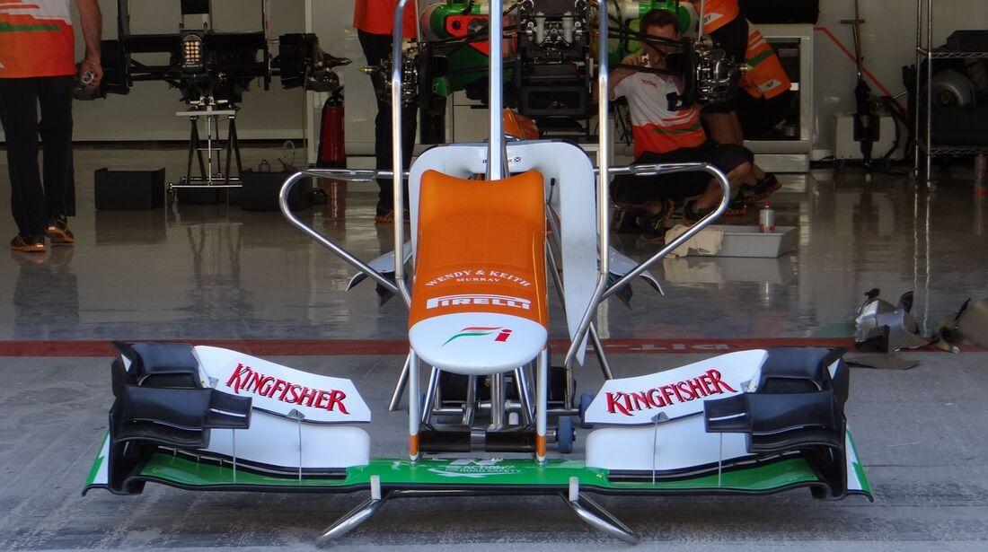Force India Frontflügel  - Formel 1 - GP Abu Dhabi - 01. November 2012