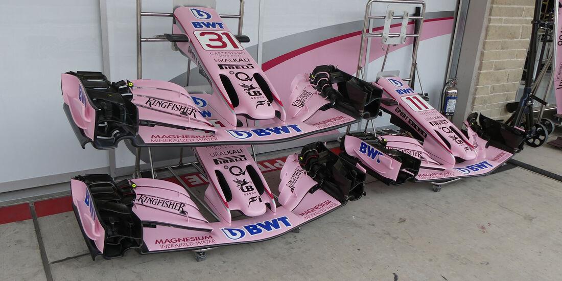 Force India - GP USA - Austin - Formel 1 - Freitag - 20.10.2017