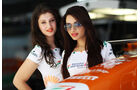 Force India-Girls - Formel 1 - GP Indien - 25. Oktober 2013