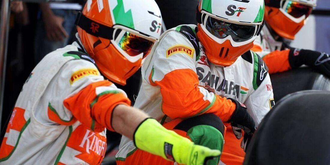 Force India Mechaniker - Formel 1 - GP Italien - 09. September 2012