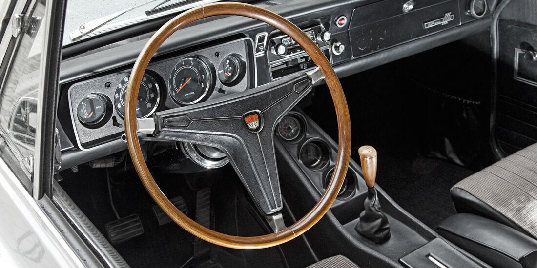 Ford 17M RS, Cockpit, Lenkrad