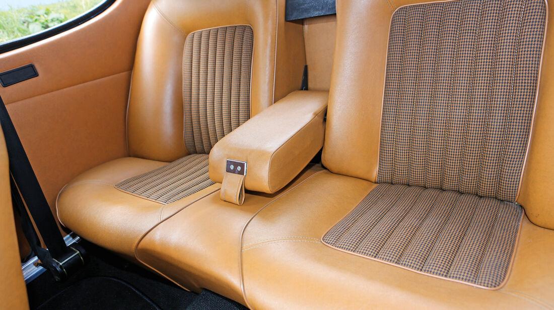Ford Capri 2600 GT, Rücksitz