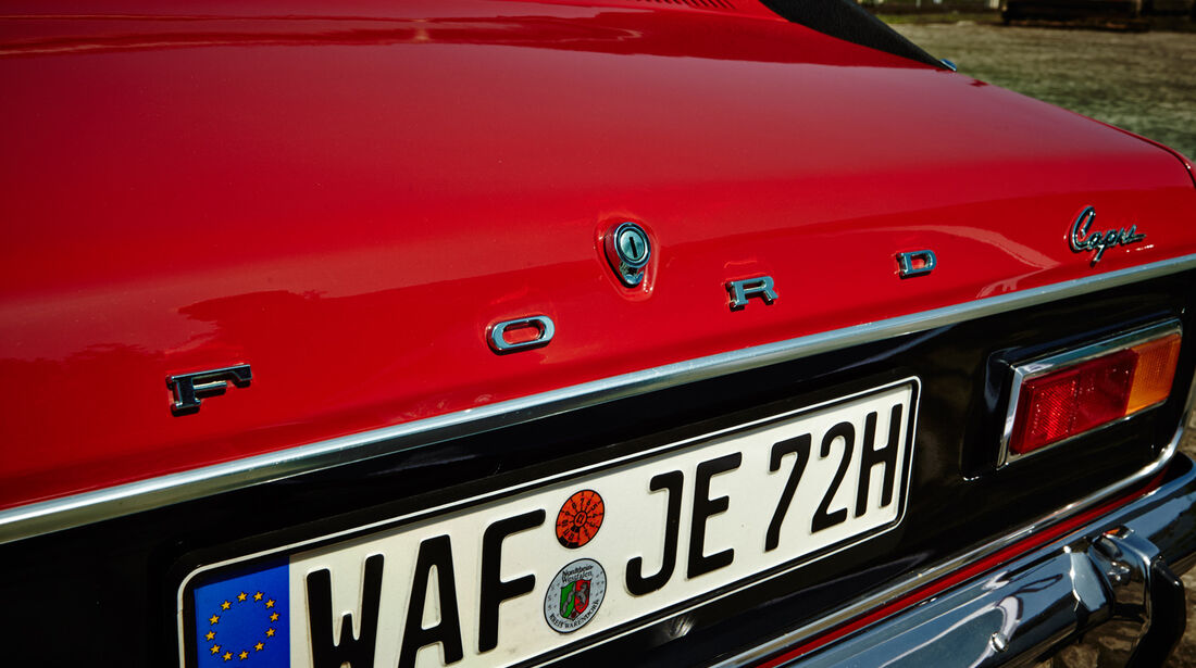 Ford Capri Serie 1, Heck