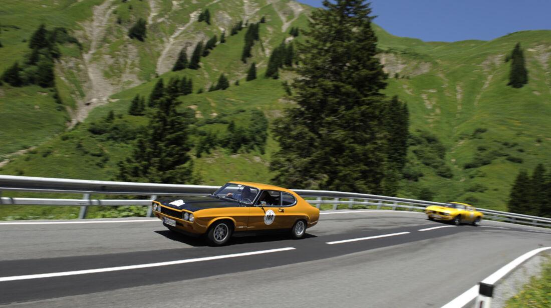 Ford Capri und Iso Grifo - Silvretta Classic 2010