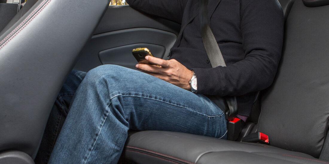 Ford Ecosport 2.0, Rücksitz, Beinfreiheit