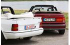 Ford Escort 1.6 XR3i Cabriolet, Opel Kadett E 2.0 GSi Cabriolet, Heckansicht
