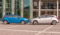 Ford Fiesta 1.0 Ecoboost, Ford Focus 1.0 Ecoboost, Seitenansicht