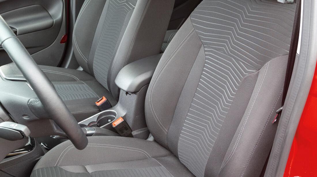 Ford Fiesta 1.0, Fahrersitz