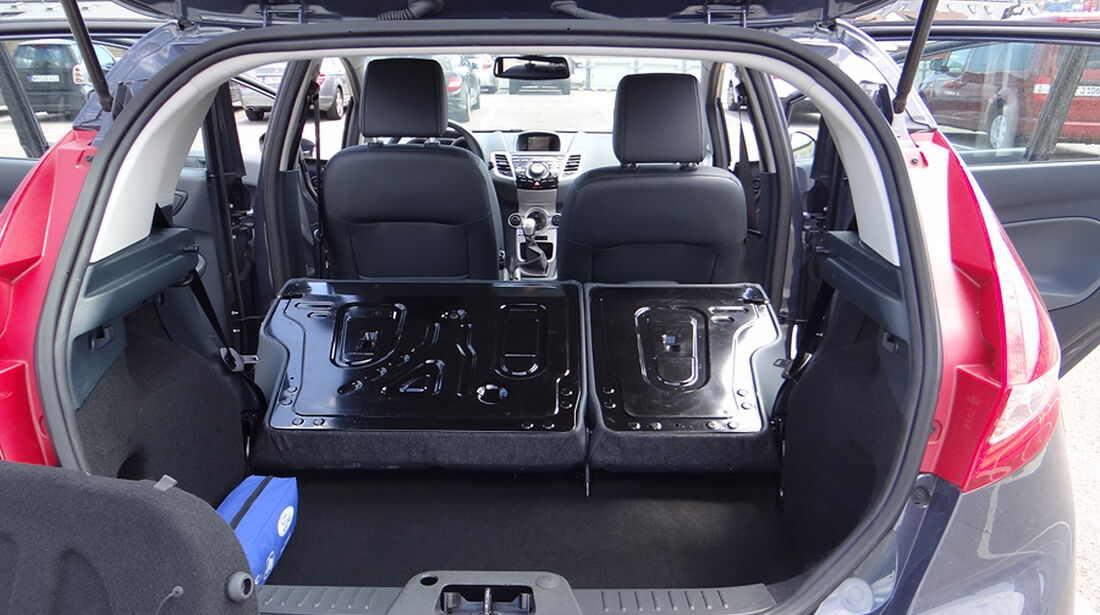 Ford Fiesta 1.4 im Innenraum-Check, Kofferraum