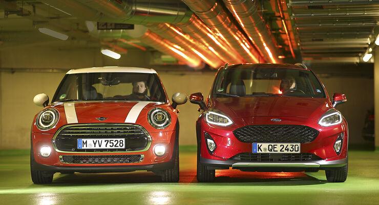 Ford Fiesta Active 1.0 EcoBoost Active Plus, Mini Cooper 5-Türer, Exterieur