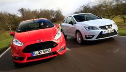 Ford Fiesta ST, Seat Ibiza Cupra, Frontansicht