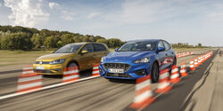Ford Focus 1.5 Ecoboost, VW Golf 1.5 TSI Act Bluemotion, Exterieur