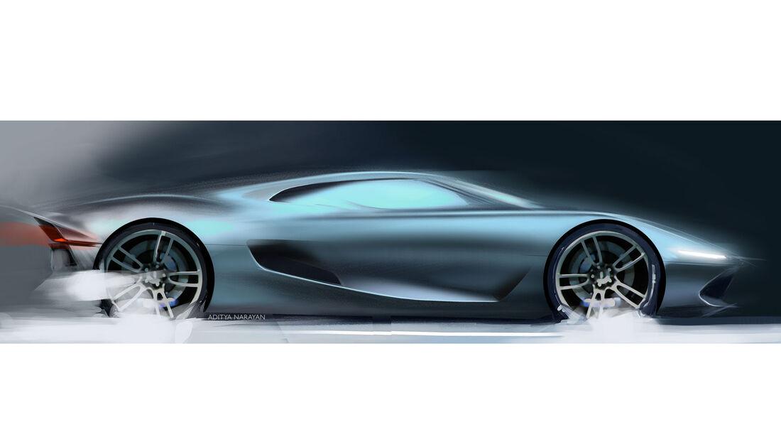 Ford GT - Supersportwagen - Entwicklung - frühe Skizzen