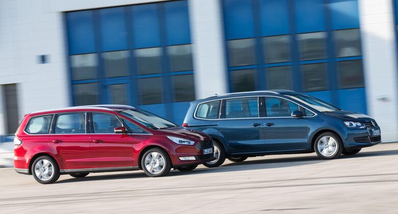 Ford Galaxy 1.5 Ecoboost, VW Sharan 1.4 TSI, Seitenansicht