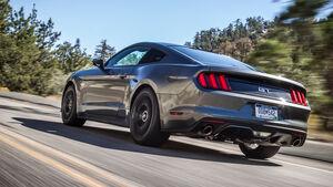 Ford Mustang 5.0 V8, Heckansicht