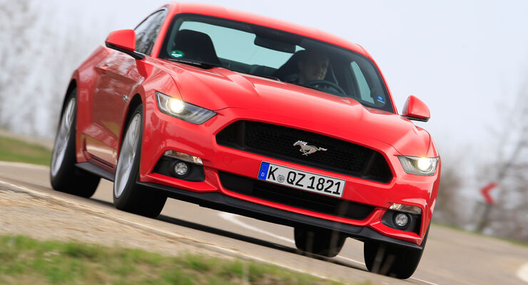 Ford Mustang GT 5.0 Fastback, Frontansicht