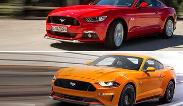 Ford Mustang Vergleich neu/alt