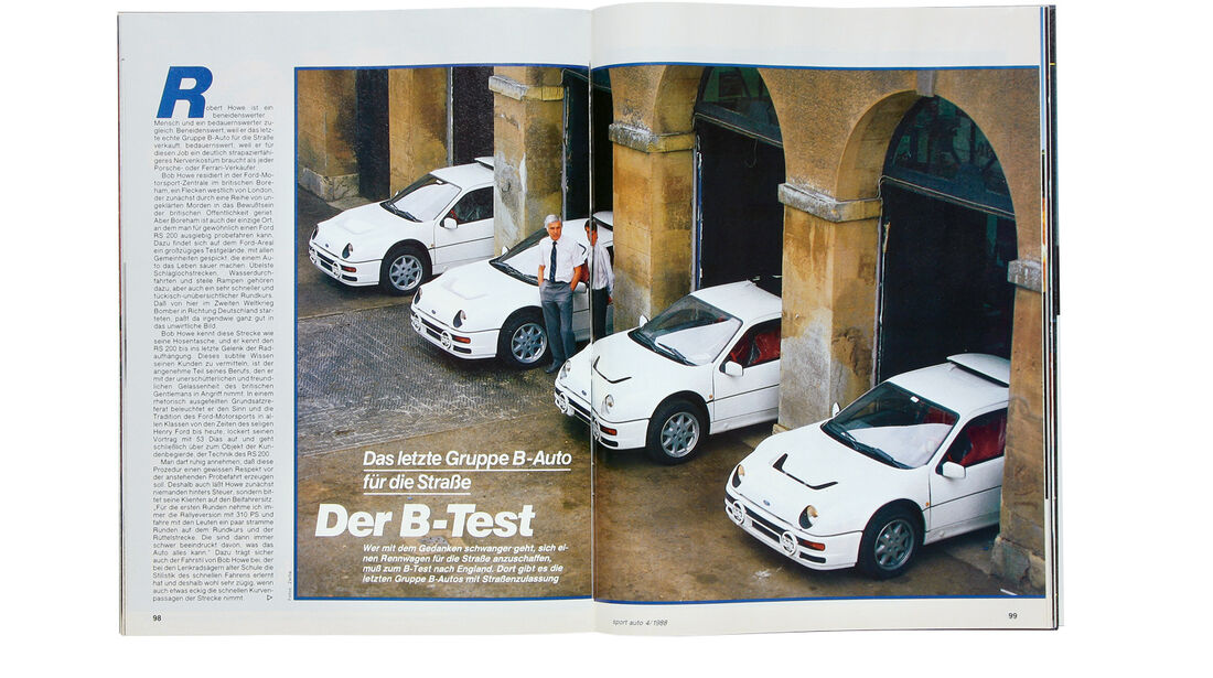 Ford RS 200, Alter Artikel