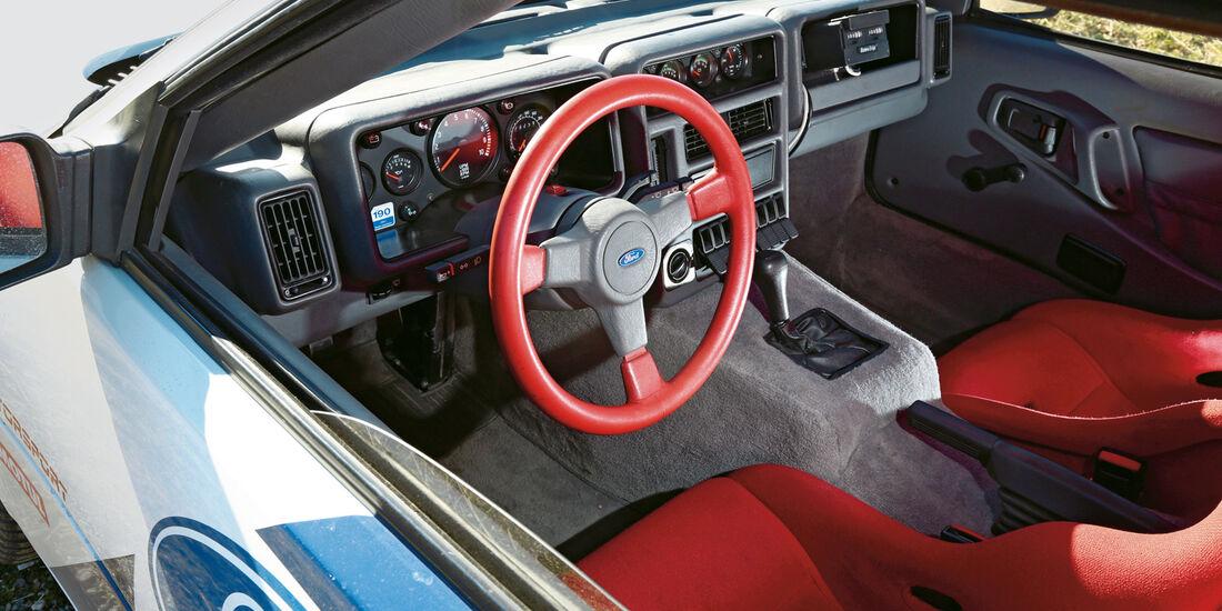 Ford RS 200, Cockpit, Lenkrad