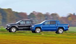 Ford Ranger 3.2 TDCi, VW Amarok 3.0 TDI, Seitenansicht