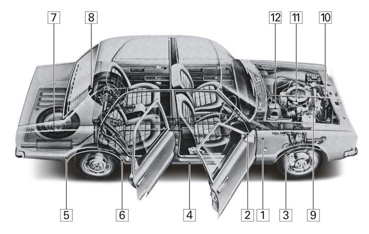 Ford Taunus TC, Schwachstellen, Igelbild