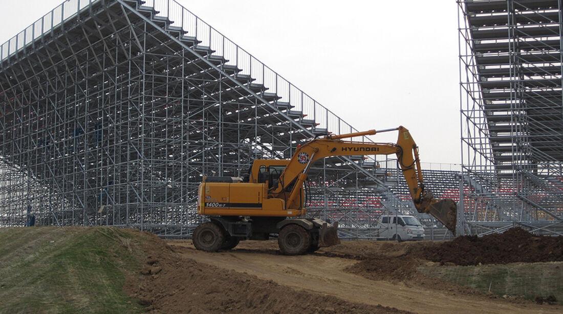 Formel 1 GP Korea 2010 Baustelle