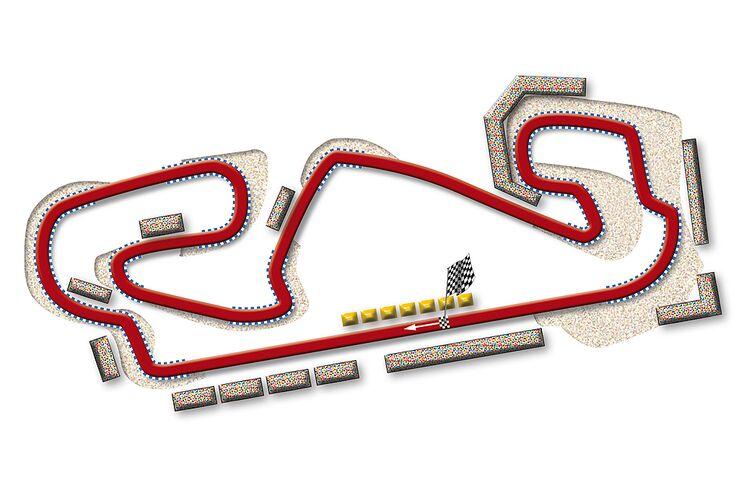 Formel 1- Rennstrecke Spanien