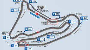 Formel 1- Rennstrecke von Frankreich