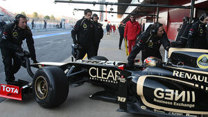 Formel 1-Test, Barcelona, 21.2.2012, Romain Grosjean, Lotus