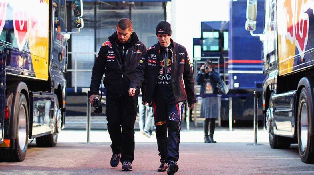 Formel 1-Test, Jerez, 10.2.2012, Sebastian Vettel, Red Bull