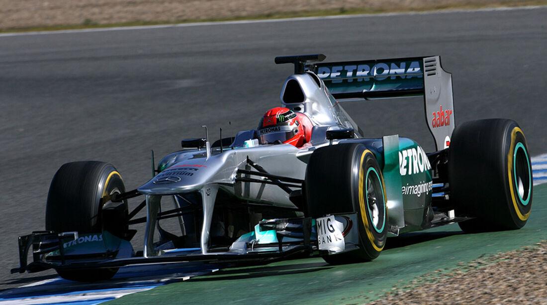 Formel 1-Test, Jerez, 8.2.2012, Michael Schumacher, Mercedes GP