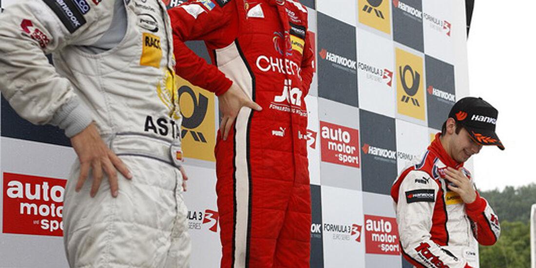 Formel 3 2012 Norisring, Siegerehrung Daniel Juncadella, Raffaele Marciello, Felix Serralles