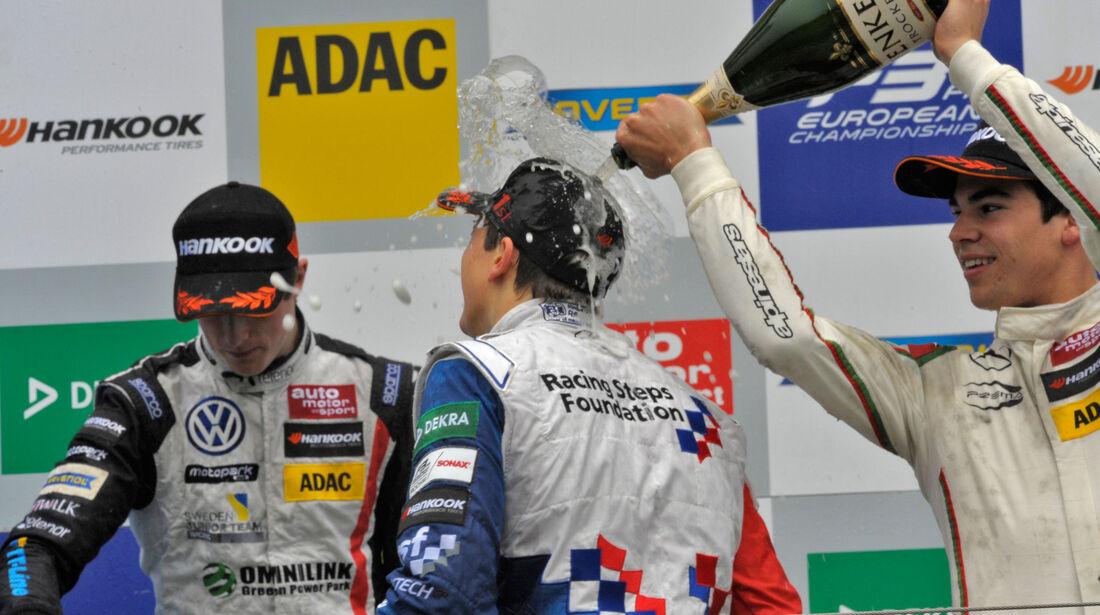 Formel 3-EM 2016 - Ungarn - Hungaroring - Podest - 3. Rennen
