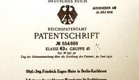 Friedrich Eugen Maier, Patent