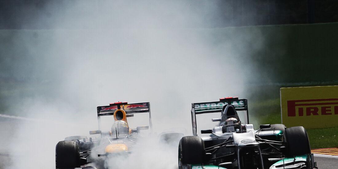 GP Belgien 2012 Vettel Schumacher