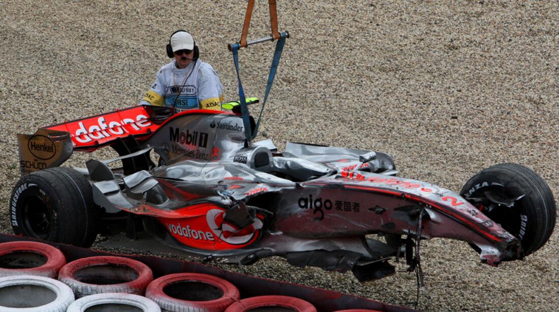 GP Europa 2007 Lewis Hamilton Crash