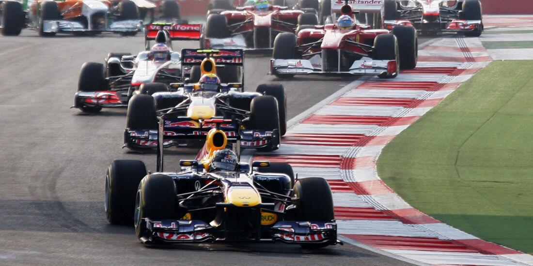 GP Indien 2011 Start Sebastian Vettel