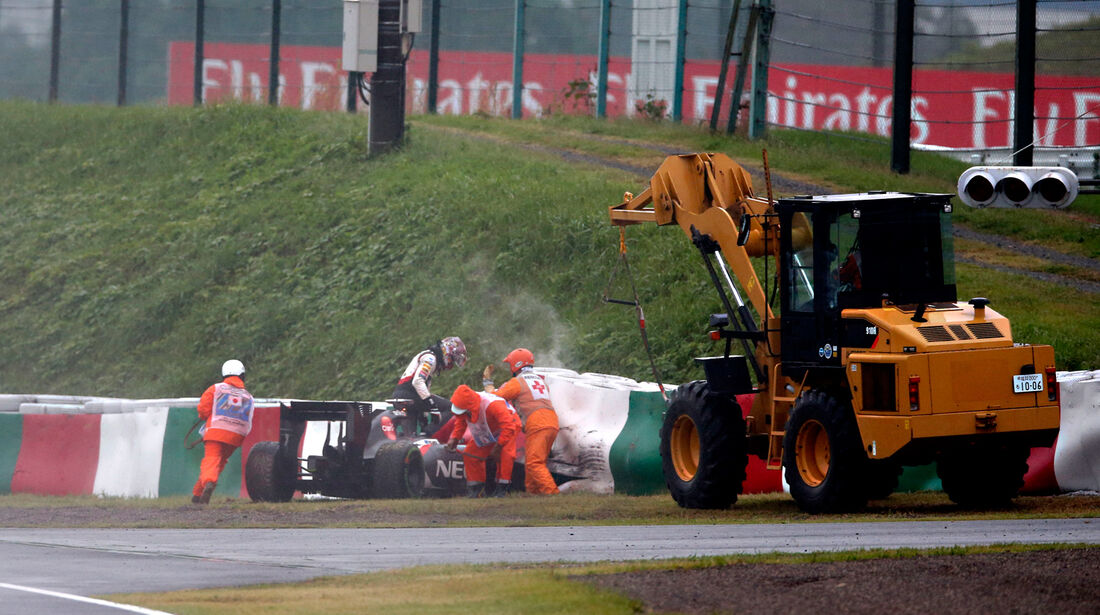 GP Japan 2014 - Unfall Sutil