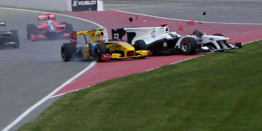 GP Kanada 2010 Start Kollsision