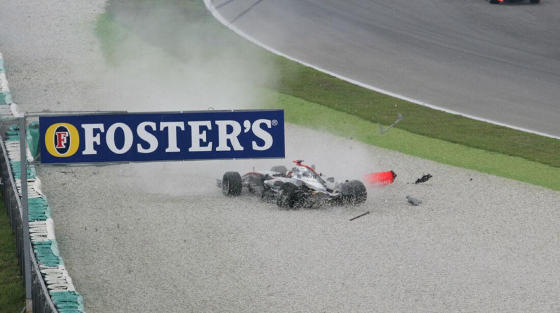 GP Malaysia 2006 Räikkönen Crash