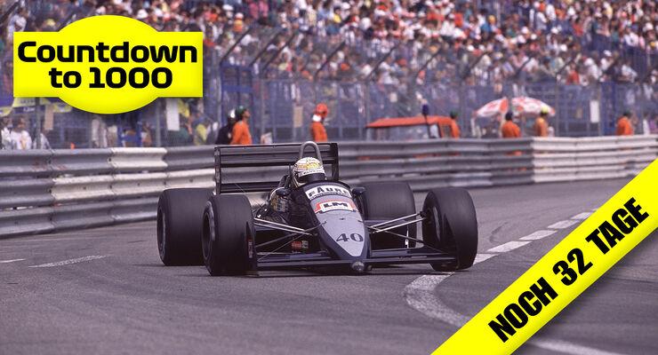 Gabriele Tarquini - AGS-Ford JH23B - GP Monaco 1989