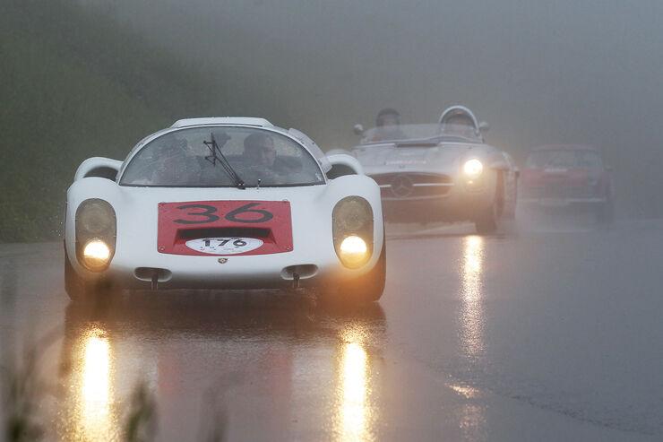 Gaisbergrennen, Porsche 910, Mercedes SLS