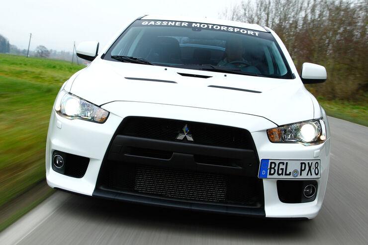 Gassner-Mitsubishi Evo hg500r, Frontansicht, Kühlergrill