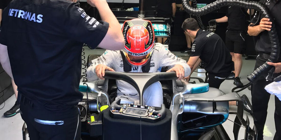George Russell - Mercedes - Formel 1 - Budapest - Test - 2. August 2017