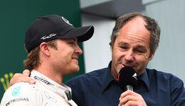 Gerhard Berger & Nico Rosberg - GP Österreich 2015