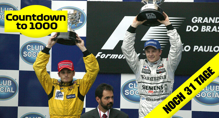 Giancarlo Fisichella - Jordan - Kimi Räikkönen - McLaren - GP Brasilien 2003 - Interlagos