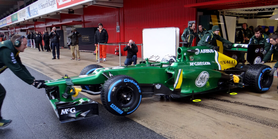 Giedo van der Garde - Caterham - Formel 1 - Test - Barcelona - 1. März 2013