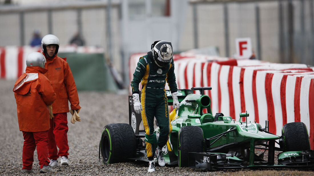 Giedo van der Garde, Caterham, Formel 1-Test, Barcelona, 22. Februar 2013