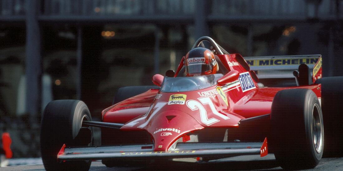 Gilles Villeneuve GP Monaco 1981 Ferrari